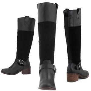 """Lucky Brand """"Kailan"""" Boots in Black"""